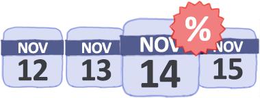 Kalender für verfügbare Angebote und billige Flüge